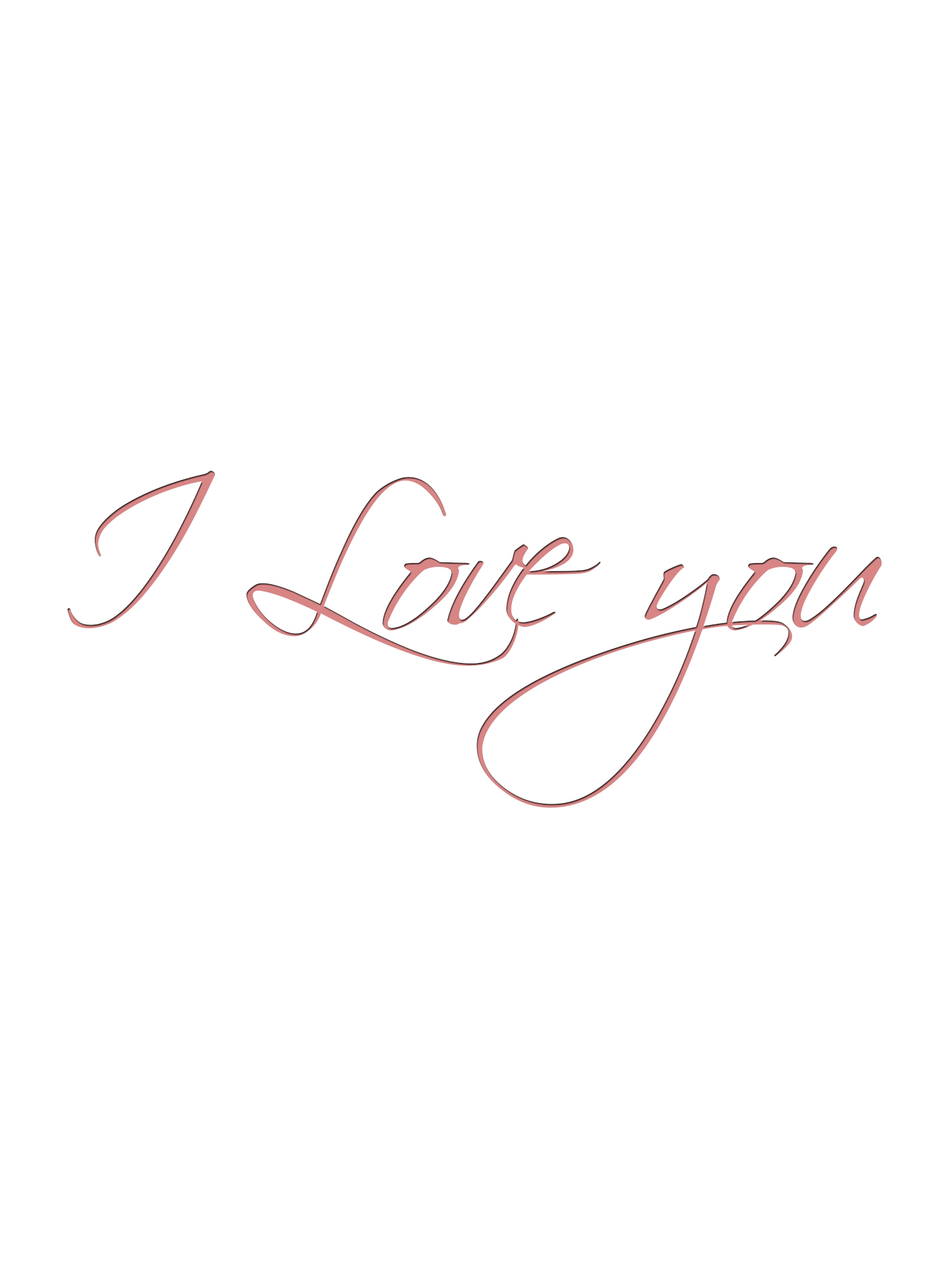 I Love you ipad 3 wallpaper
