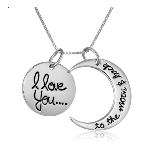 Sterling Necklace I Love You