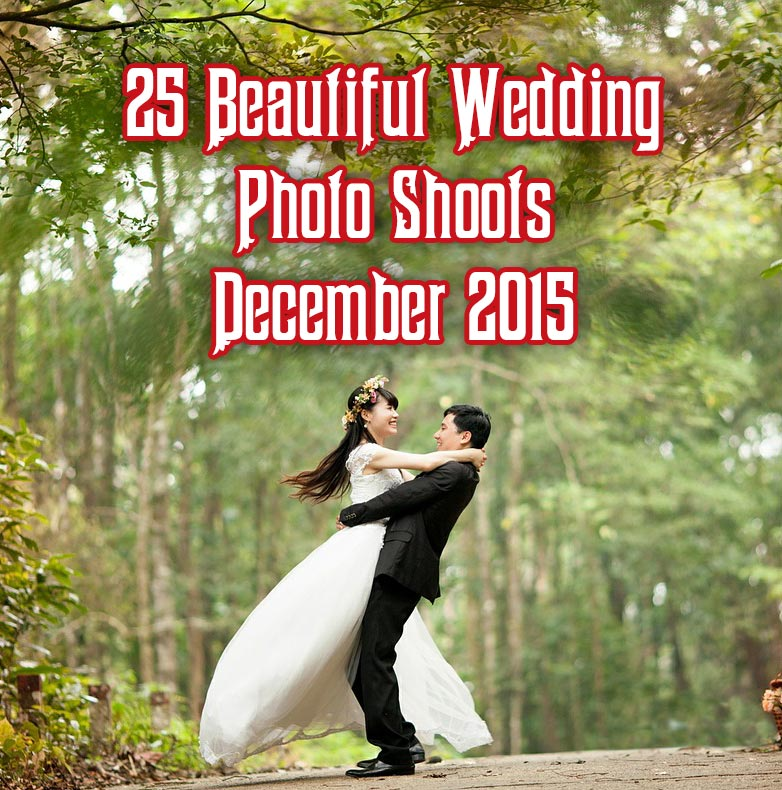 25 Beautiful Wedding Photo shoots December 2015